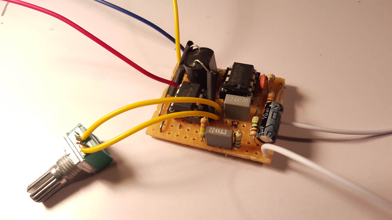 Building A Vactrol Vca Guitar Effects Pedal Circuit On Variable Resistor Diagram Finished Build